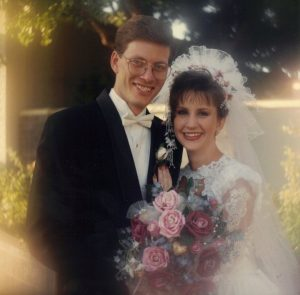 Scott and Natalie on their wedding day 1994